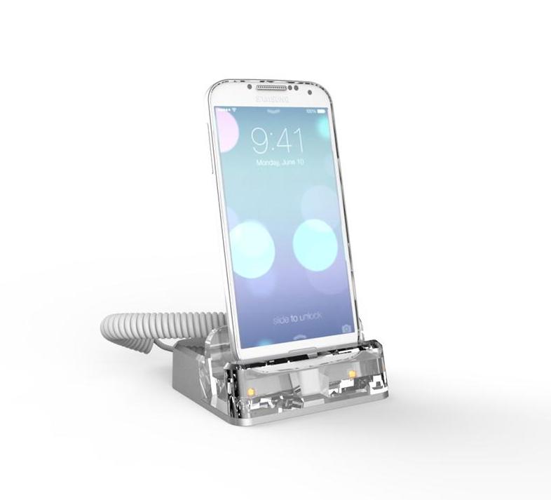 Sécurité d'affichage acrylique de téléphone portable de support